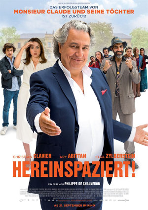 Hereinspaziert - Poster | Eine Komödie über einen Autoren, der unerwarteten Besuch erhält