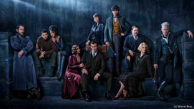 Fantastic Beast 2 - First Look   Johnny Depp as Grindelwald, Jude Lwa as Dumbledore, Eddie Redmayne as Scamander