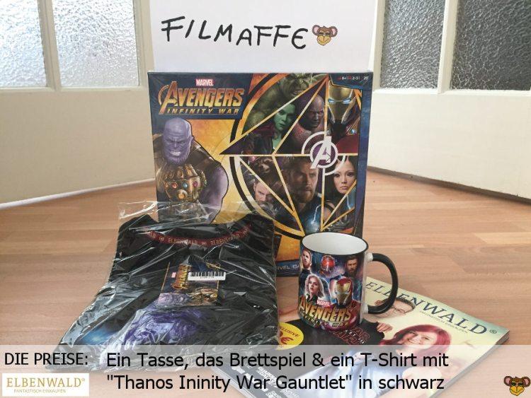 Elbenwald - Gewinnspiel zu Avengers Infinity War - die Preise   Eine Tasse, das Brettspiel und ein T-Shirt mit Thanos