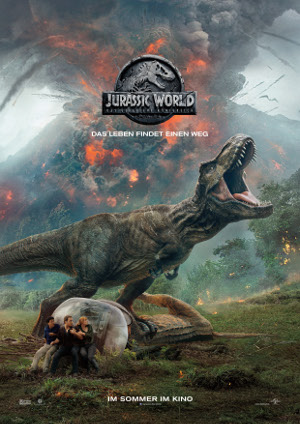 Jurassic World das gefallene Koenigreich - Poster | Dinosaurier Abenteuerfilm