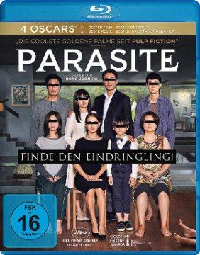 Parasite - Blu-Ray-Cover | Thriller, Drama, jetzt im Handel