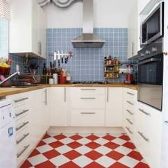 White Kitchen Floors Brushed Nickel Hardware Red Floor Tiles Film And Furniture