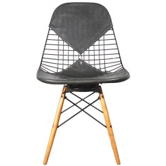 Pads For Chair Legs Wide Directors Eames Wire Bikini Pad Wooden 1st Dibs Film