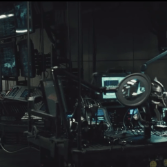 Anthro Ergonomic Verte Chair Narnia Movies Silver The Batman Exclusive: Black 'spine' In V Superman's Batcave - Film And ...
