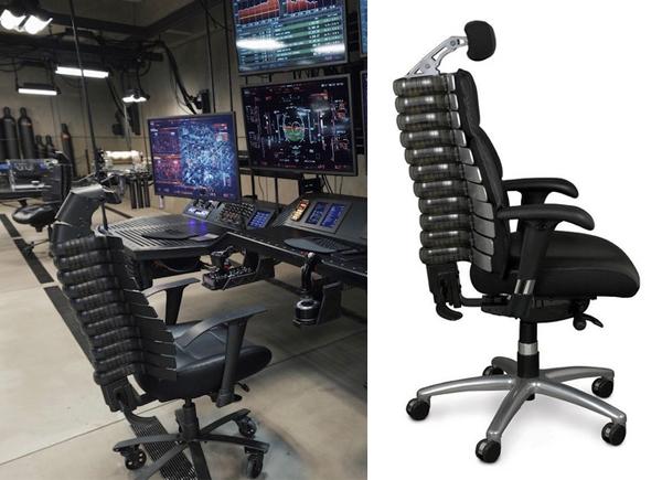 Batmans desk chair in Batman v Superman  Film and Furniture