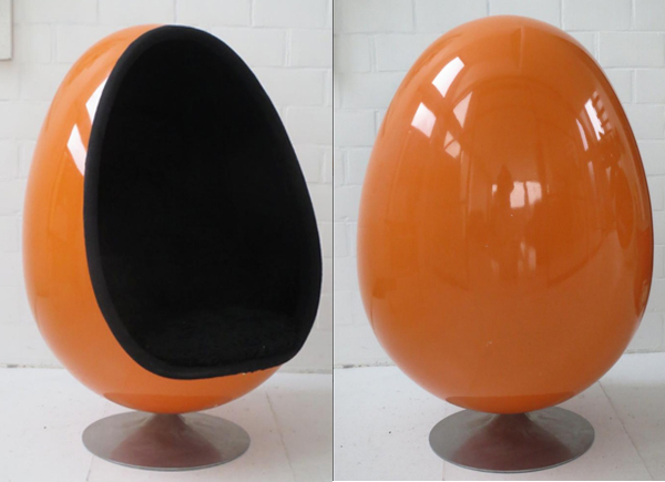 orange egg chair wing covers amazon ovalia film and furniture men in black pamono