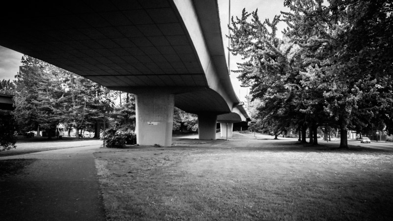 The Sketchy Park Under the Freeway