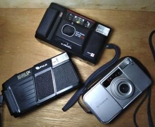 Fuji DL-200, Yashica T AF, and Fujifilm DL Mini Zoom