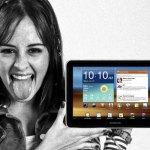 Claro Tablet Stock Bank fotografía fija