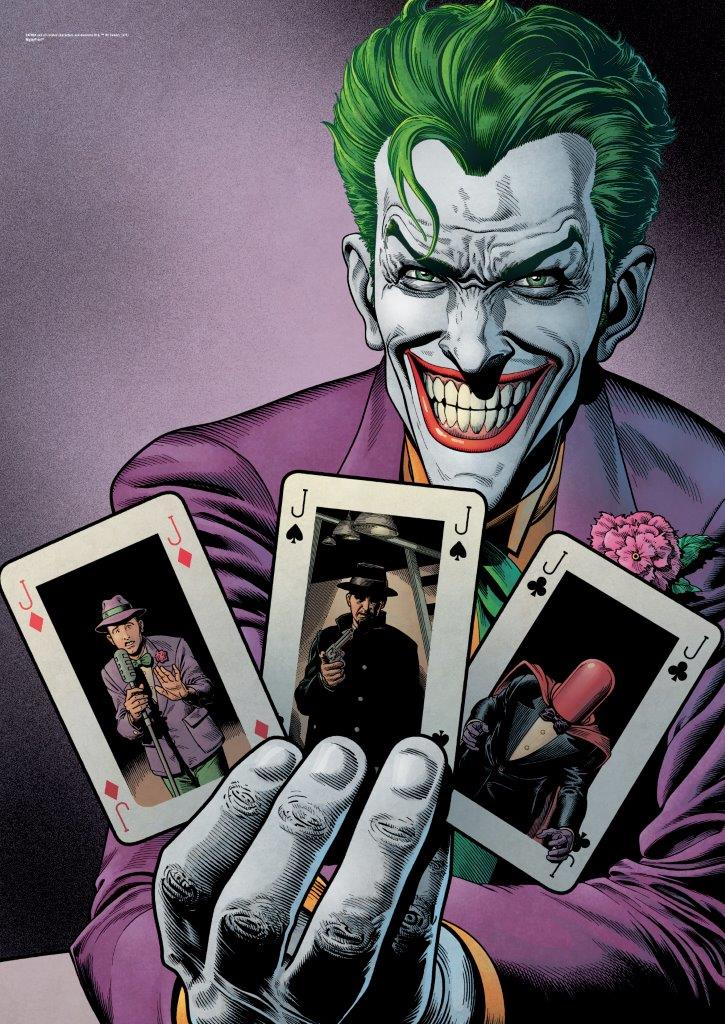 DC Comics Justice League Joker Cards MightyPrint Wall Art