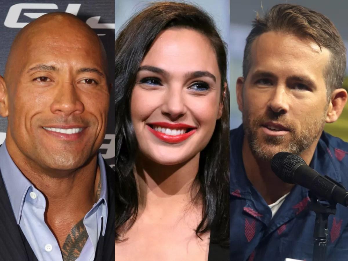 Red Notice stars Dwayne Johnson, Gal Gadot and Ryan Reynolds