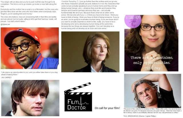 Film Doctor Inspiration Collage