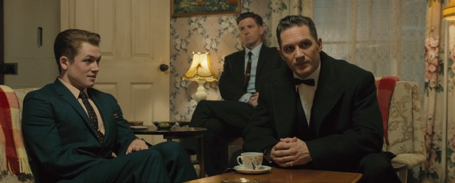 Tom Hardy and Taron Egerton in Legend © 2015 - Universal Pictures