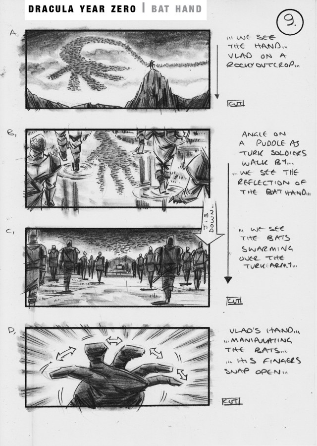 Dracula Year Zero storyboard by Simon Duric