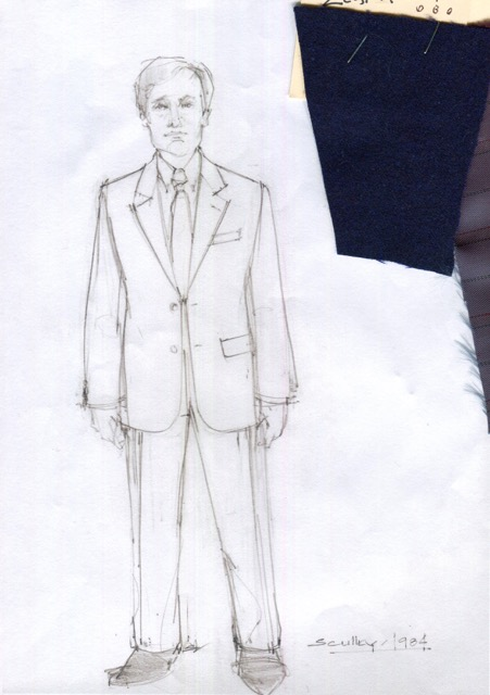 Suttirat Larlarb sketch of John Sculley with swatches