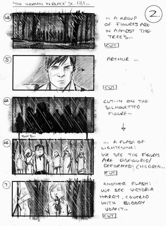 The Woman in Black storyboards by Simon Duric