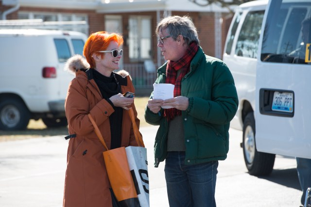 Sandy with director, Todd Haynes, on the set of Carol