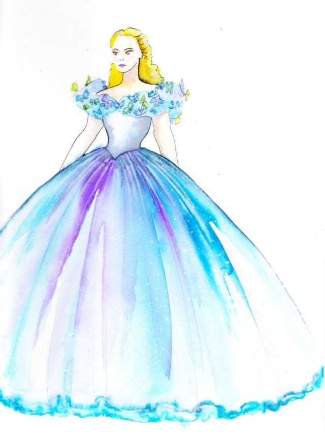 Sandy Powell's Cinderella sketch