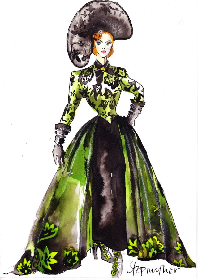 Sandy Powell's stepmother sketch from Cinderella