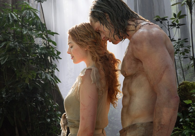 "MARGOT ROBBIE as Jane and ALEXANDER SKARSGÅRD as Tarzan in Warner Bros. Pictures' and Village Roadshow Pictures' action adventure ""THE LEGEND OF TARZAN,"" distributed worldwide by Warner Bros. Pictures and in select territories by Village Roadshow Pictures."