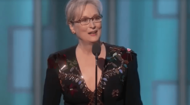 Meryl Streep Golden Globes speech