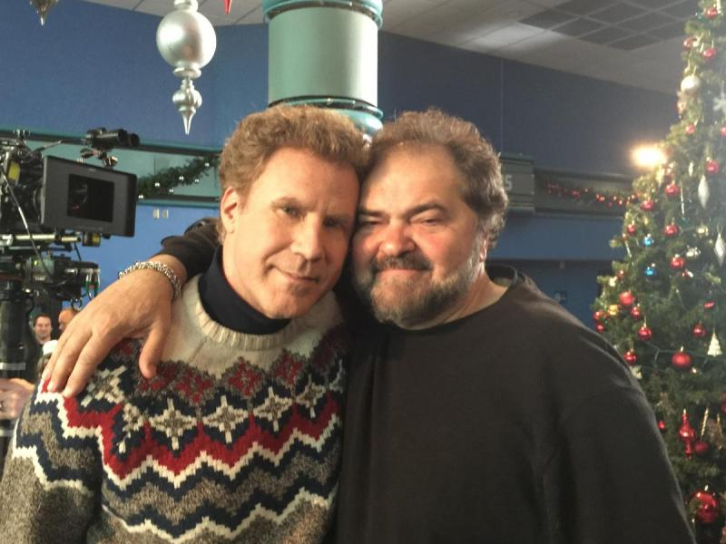 Will Ferrell and Julio Macat on the set of Daddy's Home 2