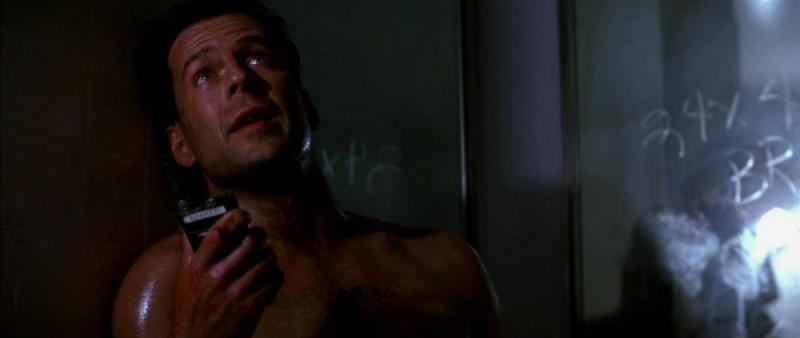 Bruce Willis in Die Hard