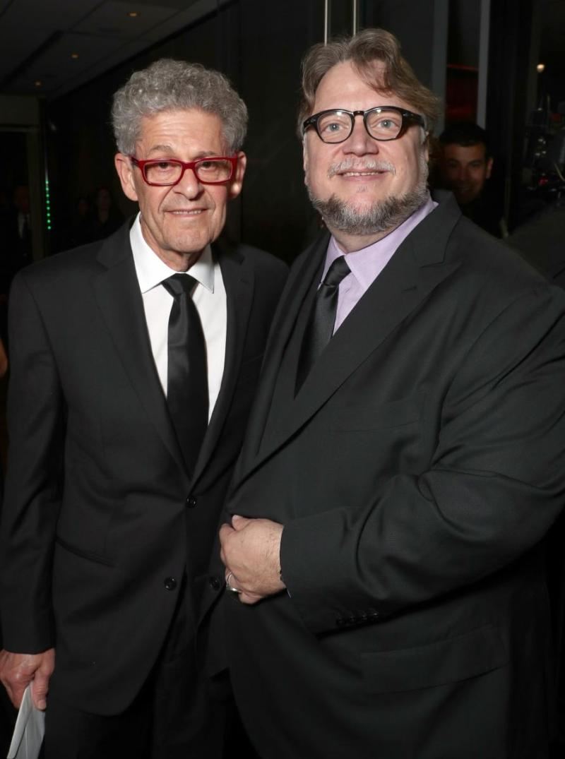 The Shape of Water editor Sidney Wolinsky with director Guillermo del Toro