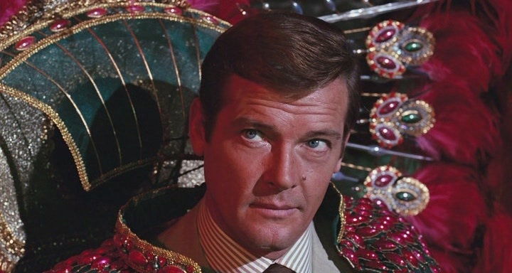 Sir Roger Moore as James Bond in Live and Let Die