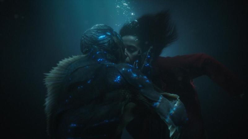 The Shape of Water Doug Jones kissing Sally Hawkins