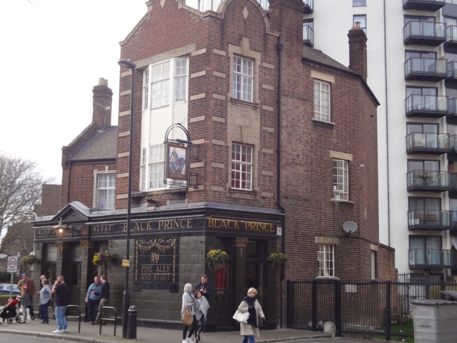 The outside of the Black Prince pub. Photo: © Sonja Irani / filmfantravel.com