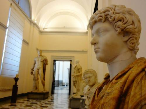 Scary Moment! The notorious Emperor Caracalla looking at me in a deserted gallery!
