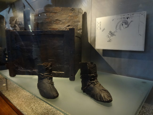Viking leather boots