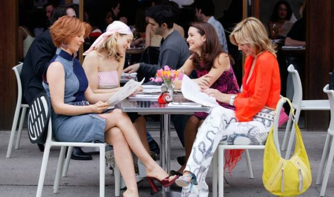 The girls meet for lunch. Photo: HBO