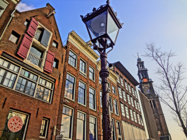 """Front view of the """"Anne Frank Huis""""."""