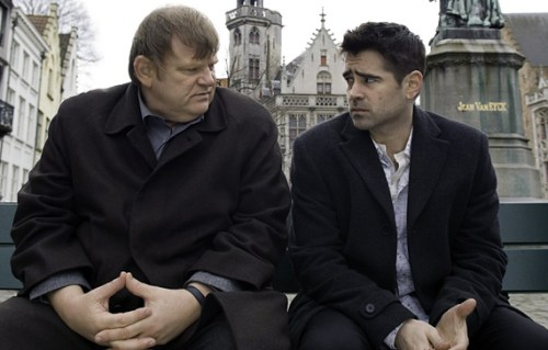 "Scene from the movie ""In Bruges"" at the Jan van Eyckplein. Photo: Sky TV"