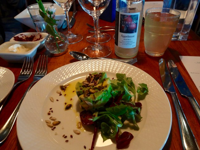 Dinner starter at Djurönäset