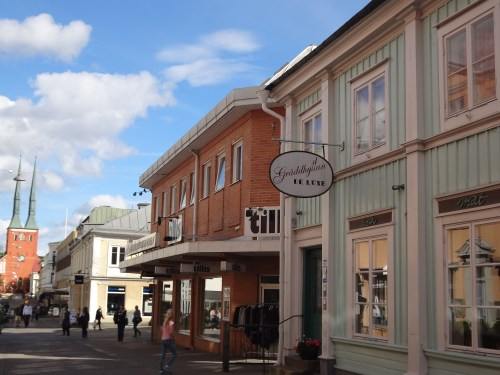 Buildings in the town centre of Växjö, Sweden