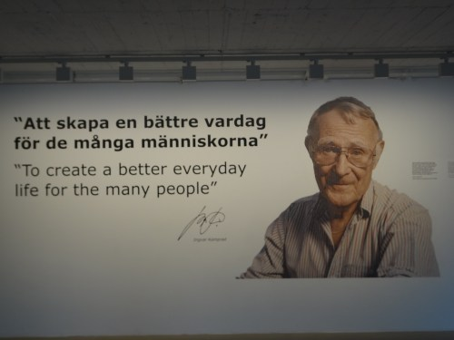 Ingvar Kamprad quotation at the entrance of the IKEA museum in Älmhult, Sweden