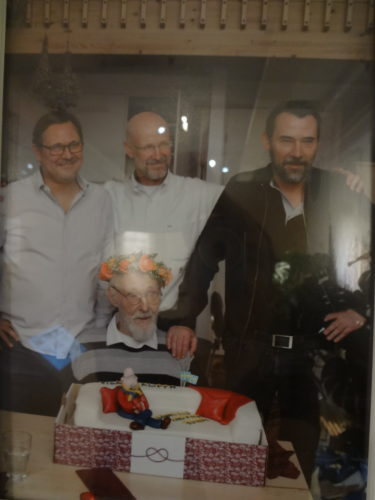 Ingvar Kamprad and his sons on Ingvar's 90th birthday