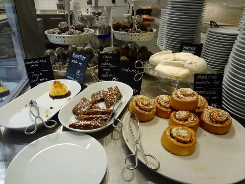 Swedish sweets and pastries at the IKEA museum, Älmhult