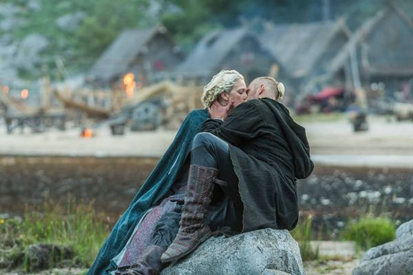 Björn and his wife in Kattegat. Photo: Vikings Facebook Page
