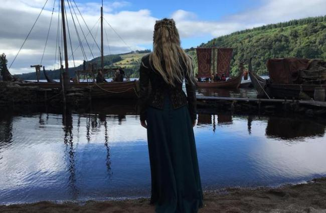 "Lagertha from ""Vikings"" waiting at the shores of Kattegat. Photo: MGM Television"