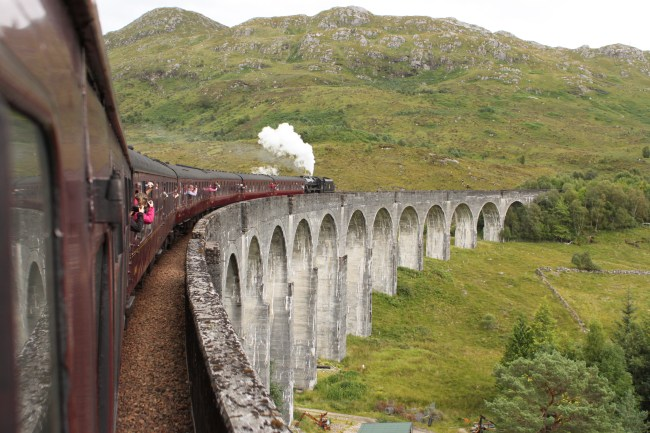 "Hogwarts Express in the UK – film location for ""Harry Potter"". Photo: rachelheller.org"