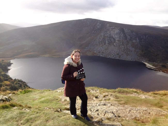 "Me at the ""Guinness Lake"" – film location for ""Vikings"". Photo: filmfantravel.com"