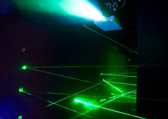 "The ""laser maze"" at the German Spy Museum in Berlin"
