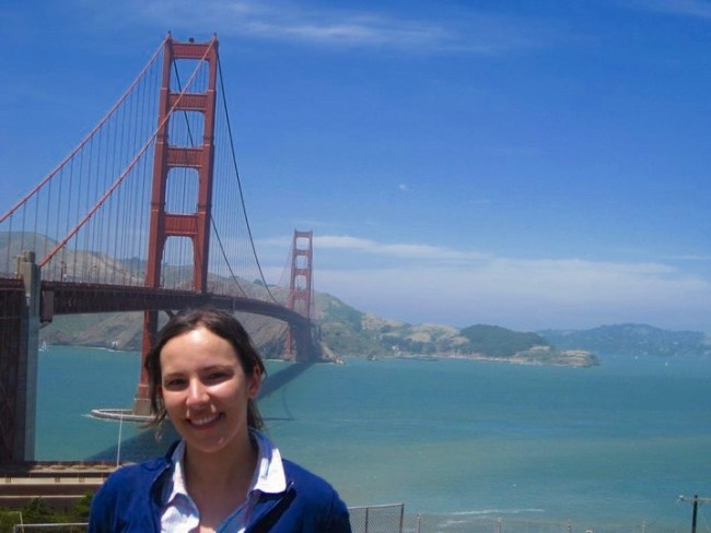 Me at the Golden Gate Bridge