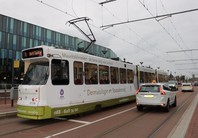 The tram that takes you from Delft to The Hague in 30 minutes