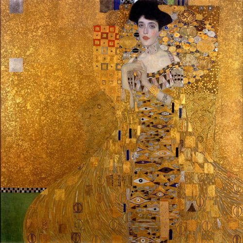 """""""The Woman in Gold"""" by Gustav Klimt. Photo via Wikipedia Commons."""