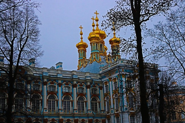 Catherine Palace in Pushkin, some 40 min. outside of St Petersburg